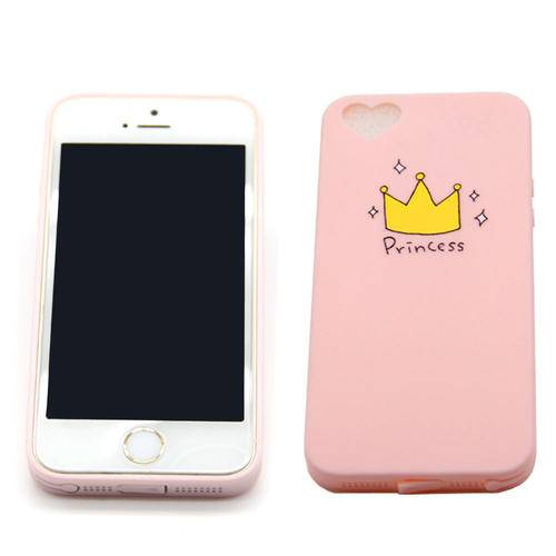 Silicone TPU Phone Cases For iphone 5s 6s 6plus Princess crown Heart Window