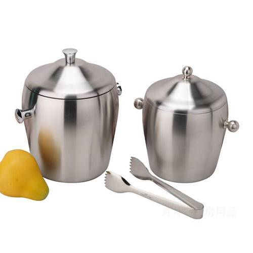 Thickening Double Layer Stainless Steel Ice Bucket