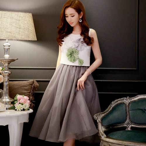 Women Ball Gown Bubble Swing Layers Skirt
