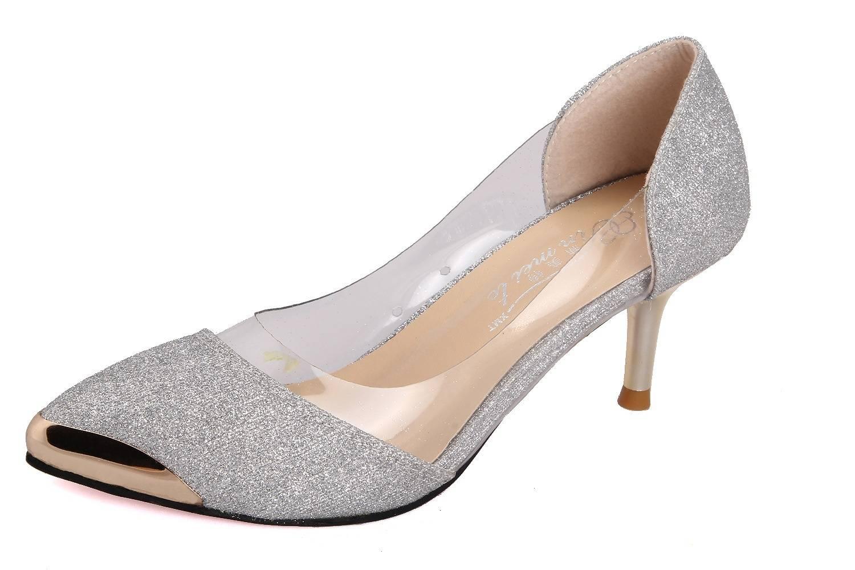 Fashion sexy shoes plastic metal-2