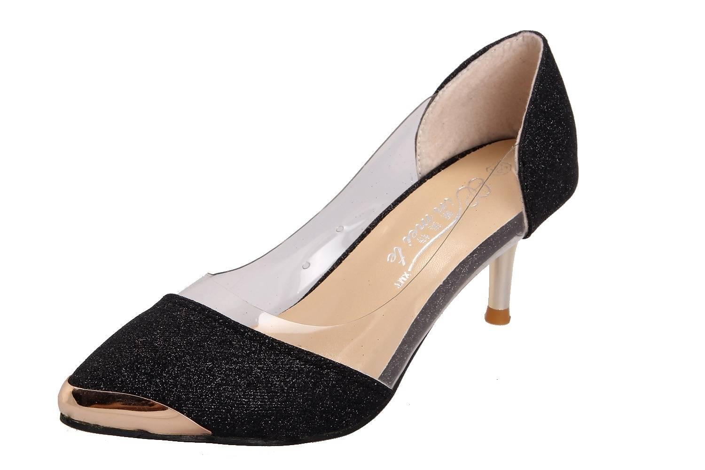 Fashion sexy shoes plastic metal-4