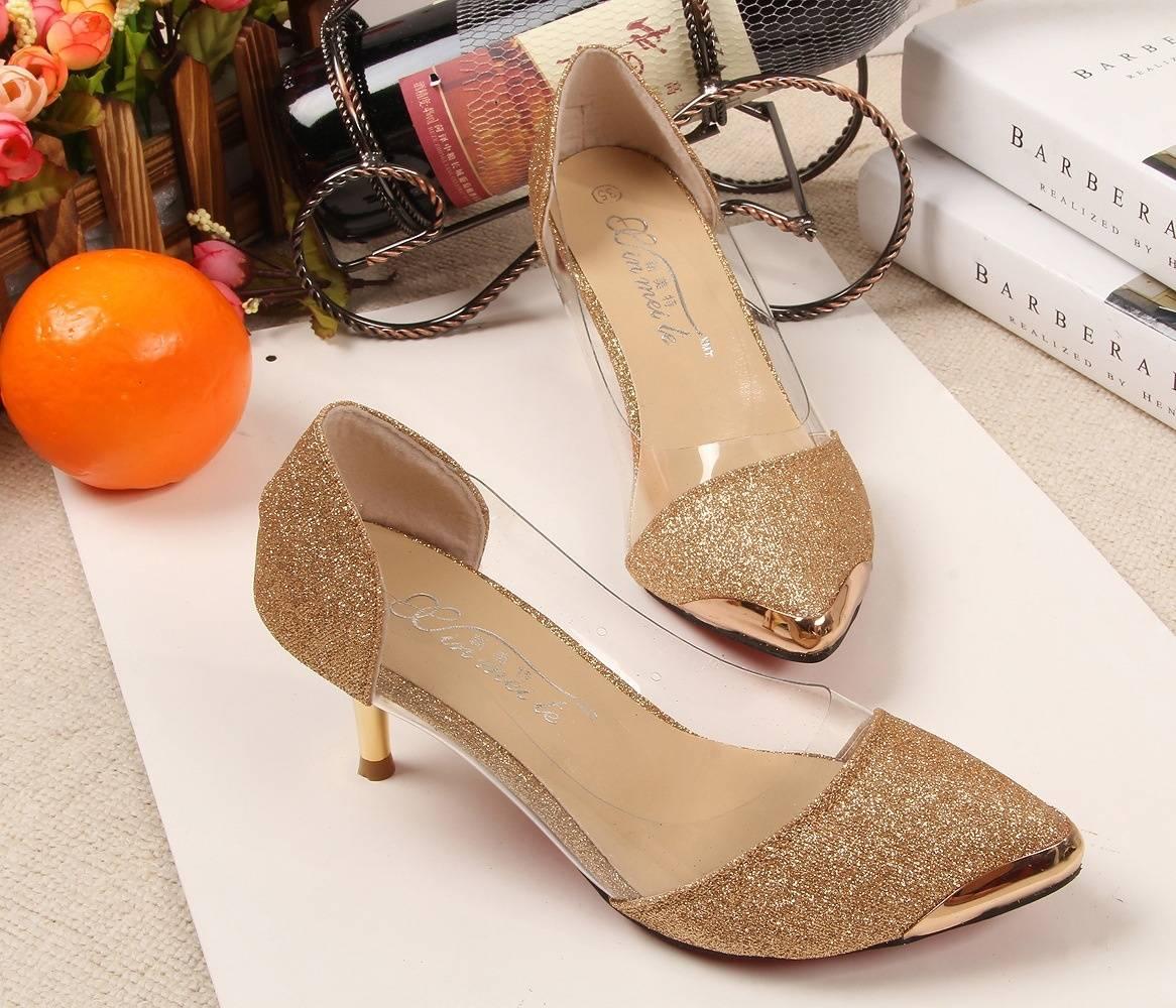 Fashion sexy shoes plastic metal-5