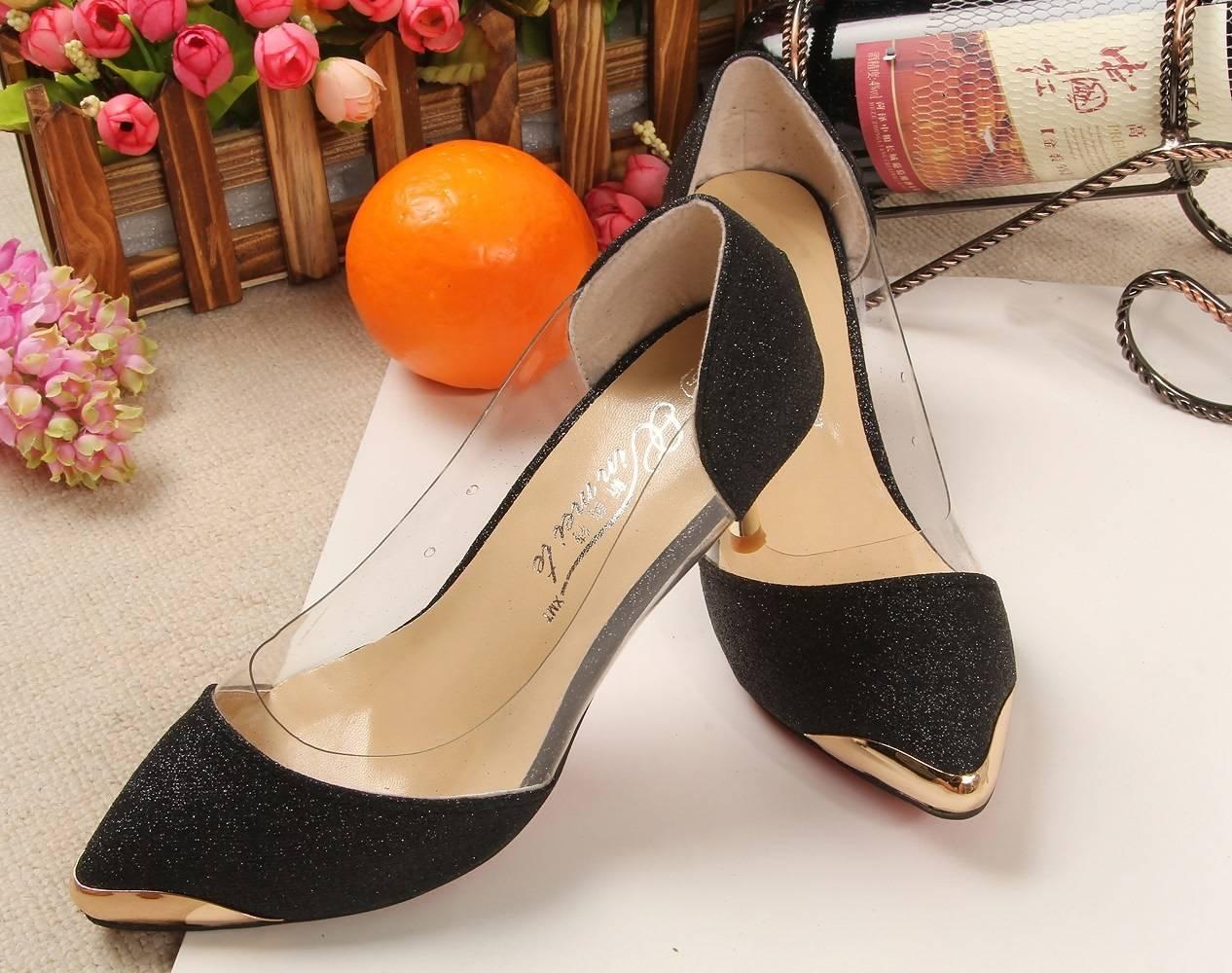 Fashion sexy shoes plastic metal-6