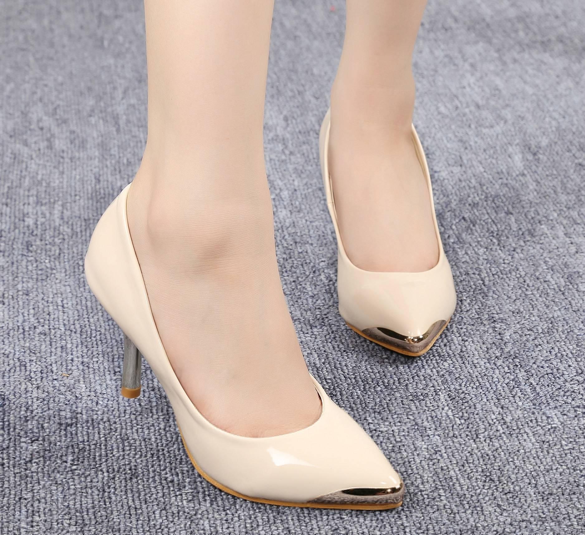 Fashion sexy shoes plastic metal-7