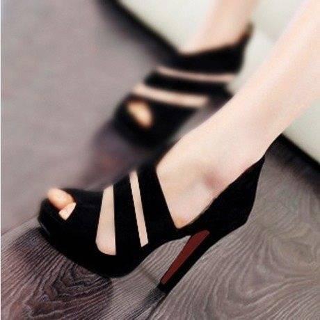 Grain sandals fashion fish mouth shoes-2