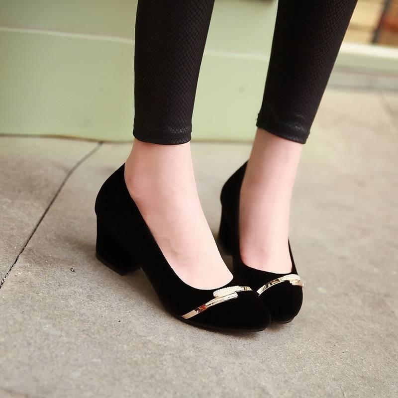 New round nubuck leather shoes-2