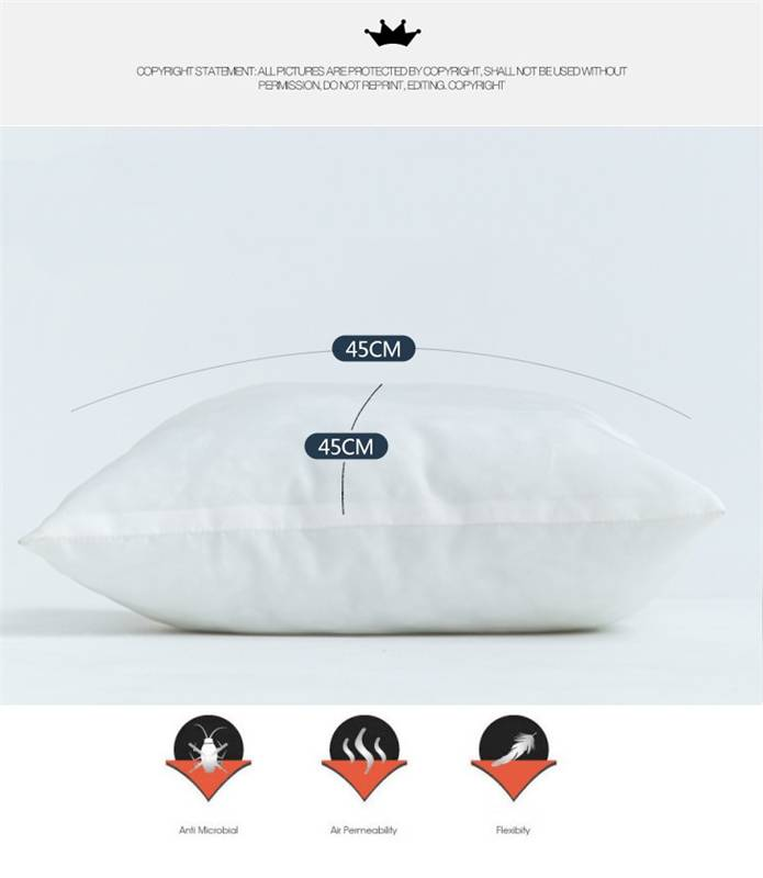 Cotton Throw Pillow Inserts : PP Cotton Throw Pillow Inner Pads Inserts Fillers Home Bed Sofa Cushion 45*45cm