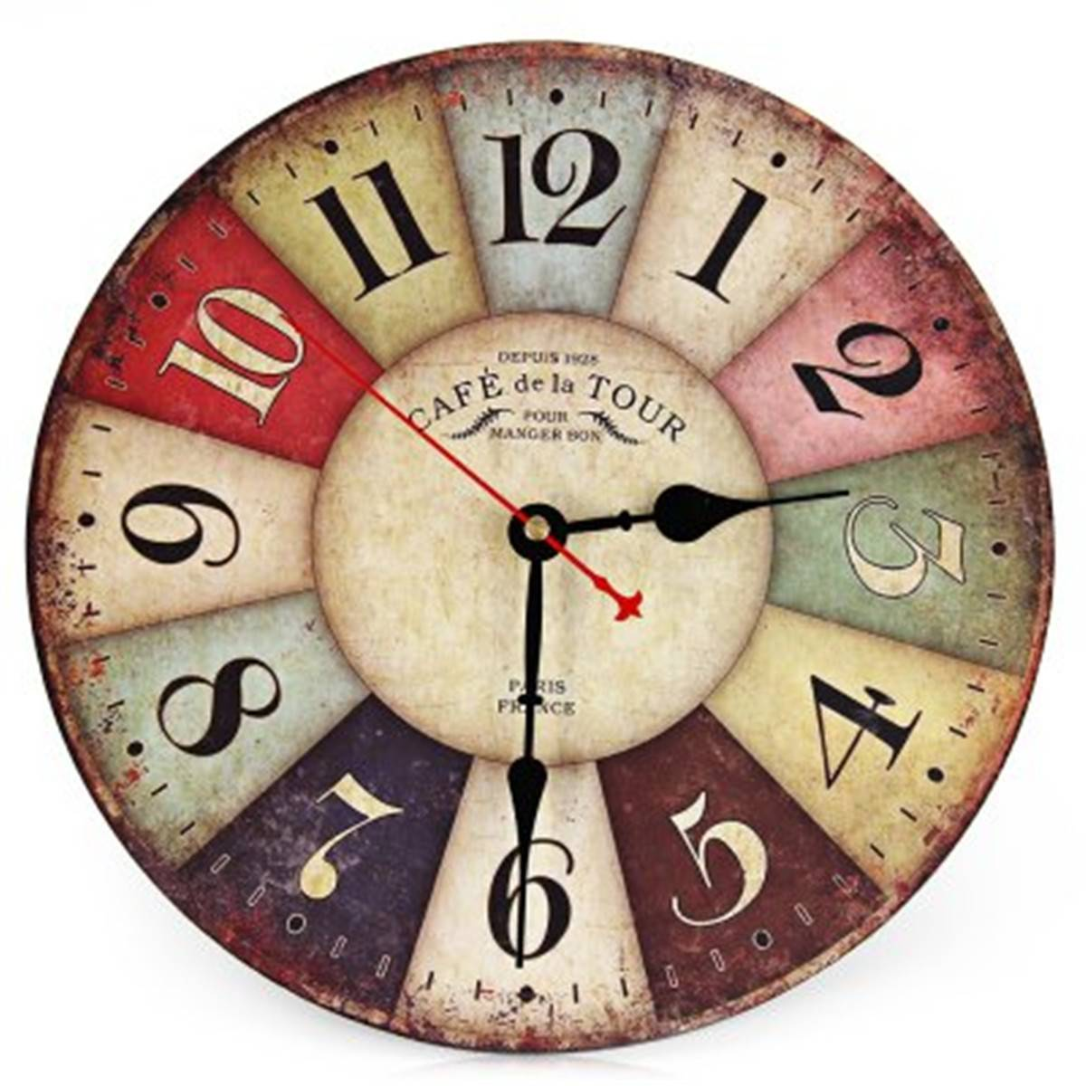 1Wall Clock New Wall Clock Rimless Number