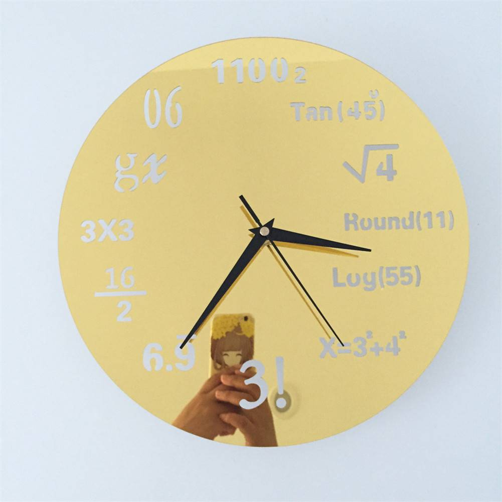 Wall Clock Math Formulas Creative Acrylic Home Decoration Coated ...