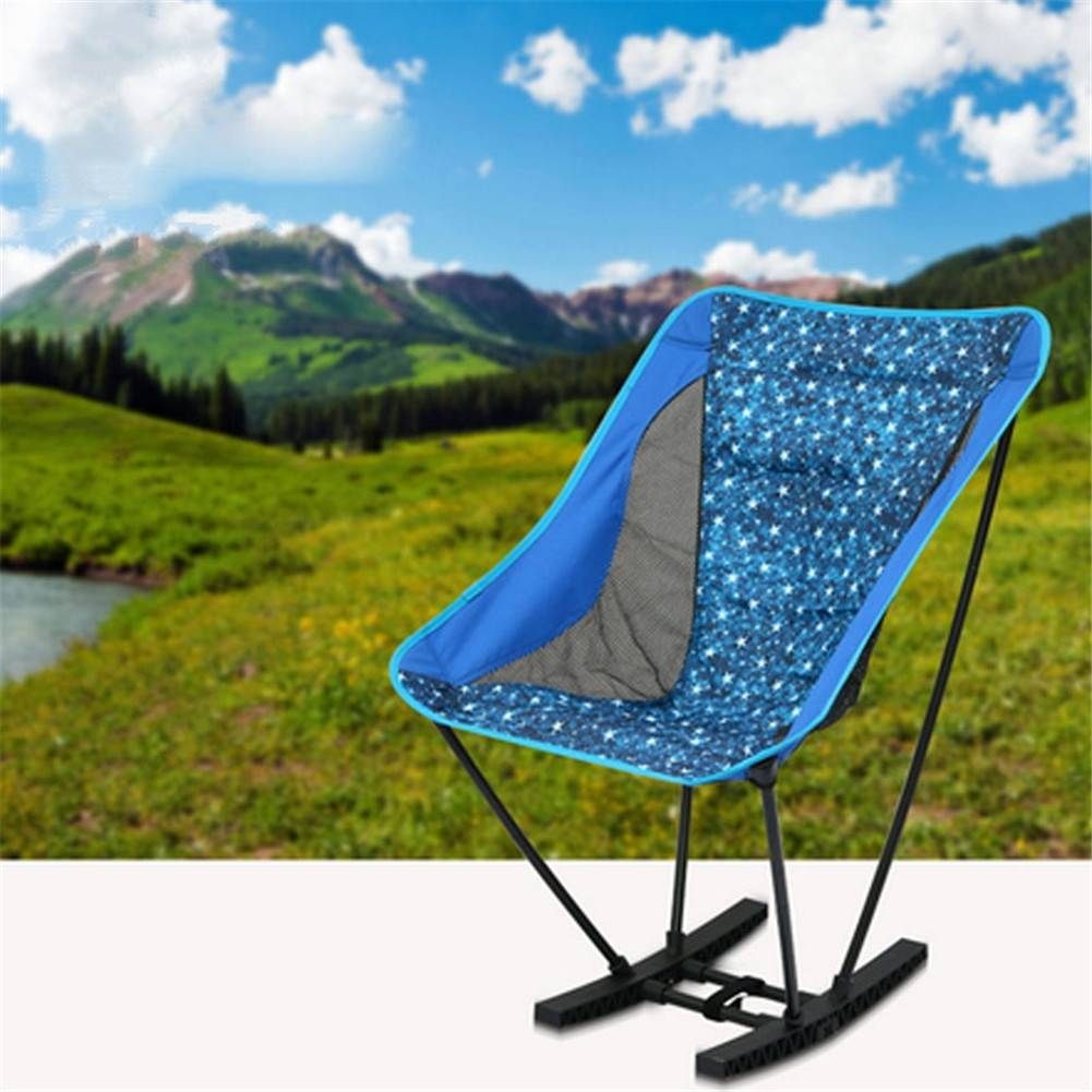 Pleasant Folding Rocking Chair Outdoor Design Portable Lightweight Camping Stool Chair For Outdoor Camping Picnic Fishing Thicker Oxford Cloth Patio Garden Gmtry Best Dining Table And Chair Ideas Images Gmtryco