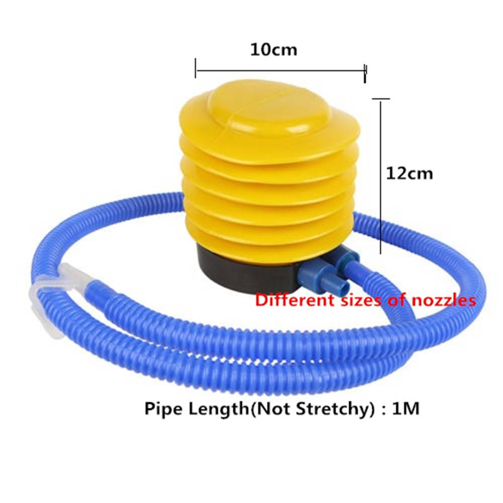 2019 Wholesale Blue Yellow Plastic Hand Foot Pump Inflator
