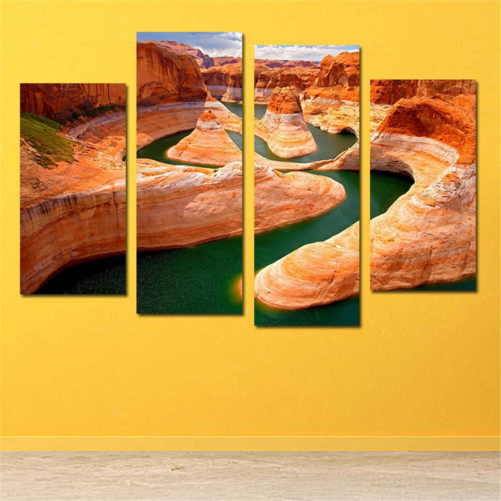 2018 Grand Canyon National Park 4 Panels Wall Art Canvas Paintings ...