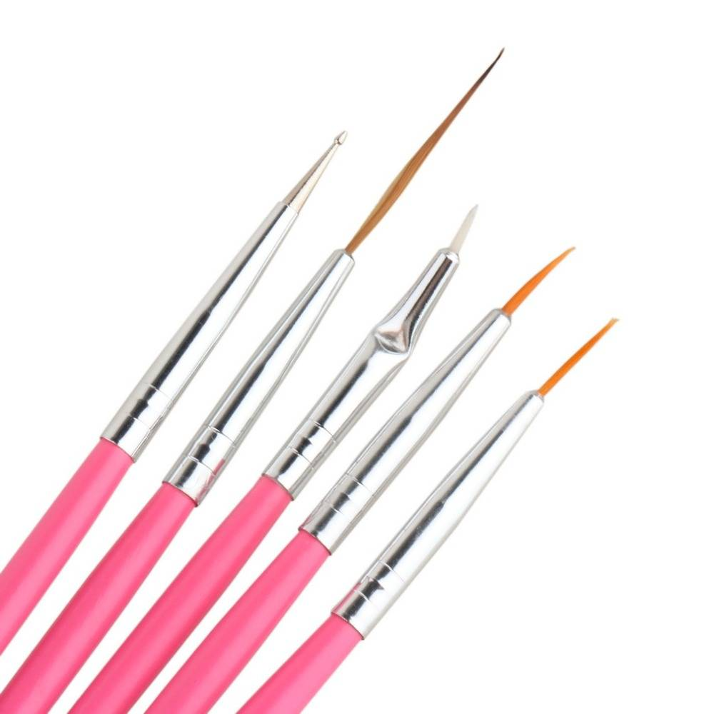 Diy 15pcs Uv Gel Nail Art Brush Tool Polish Cosmetic Nail Art Pen