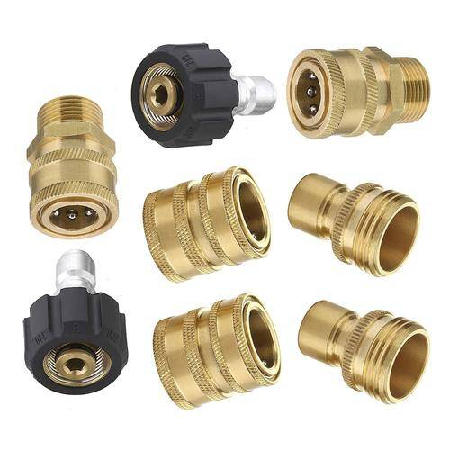 """1pc 22mm Male x1//4/"""" Female Plug Quick Release Connector For Pressure Washer"""