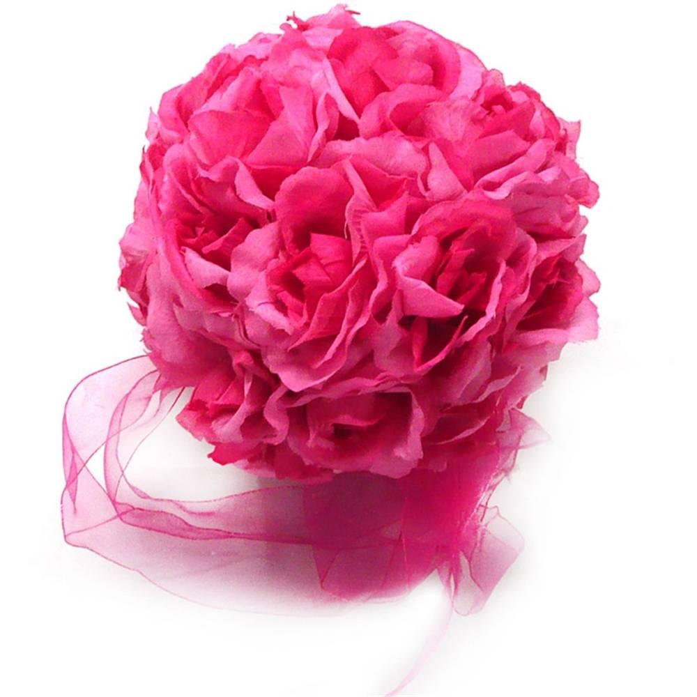 Wedding Flower Dark Pink Rose Mauve Kissing Balls Decorations   eBay
