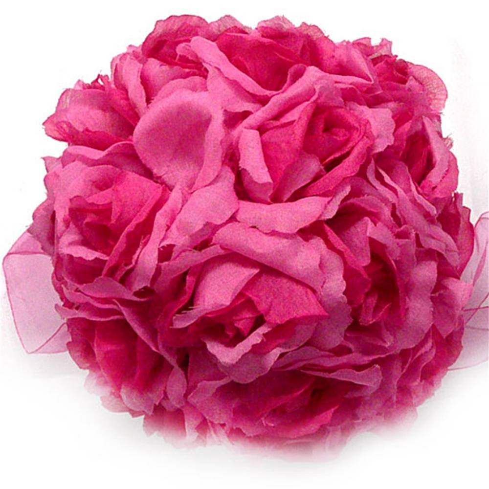 Rose kissing balls wedding flower decorations dark pink mauve ebay 1 x dark pink rose balls wedding flower decoration powered by soldeazy mightylinksfo