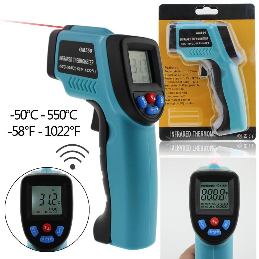 GM550 Fahrenheit Digital Infrared Thermometer Pyrometer Laser ...